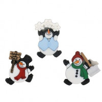 "ПУГОВИЦЫ DRESS IT UP ""ROLY POLY SNOWMEN"" 7493"