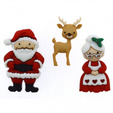 "ПУГОВИЦЫ DRESS IT UP ""MR. AND MRS. CLAUS"" 9499"