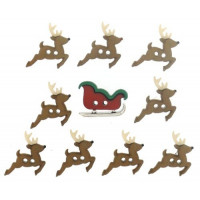 "ПУГОВИЦЫ DRESS IT UP ""SEW CUTE SLEIGH/REINDEER"" 7590"