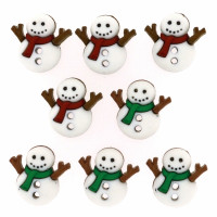"ПУГОВИЦЫ DRESS IT UP ""SEW CUTE SNOWMEN"" 7494"