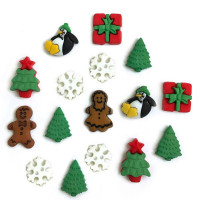 "ПУГОВИЦЫ BUTTONS GALORE ""CHRISTMAS MINIES"" 4813"