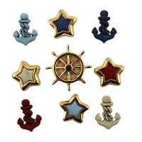 "ПУГОВИЦЫ BUTTONS GALORE ""ANCHORS AWAY"" 4267"