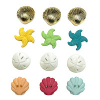 "ПУГОВИЦЫ BUTTONS GALORE ""BEACH TREASURES"" 4246"