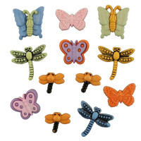 "ПУГОВИЦЫ BUTTONS GALORE ""FLUTTERBUGS"""